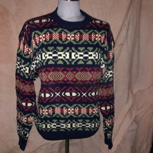 GAP blue Fair Isle Nordic Cotton Holiday cotton S